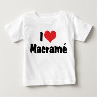 I Love Heart Macramé Baby T-Shirt