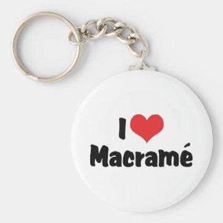 I Love Heart Macramé Keychain