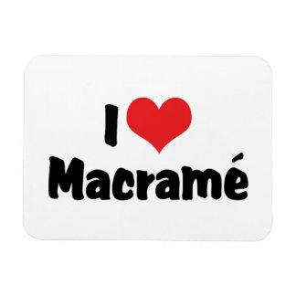 I Love Heart Macramé Magnet