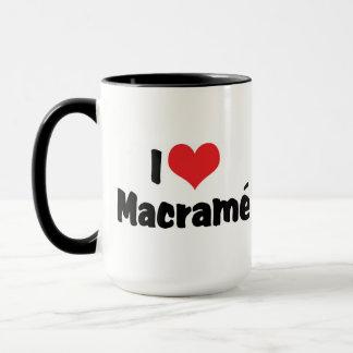 I Love Heart Macramé Mug