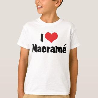 I Love Heart Macramé T-Shirt