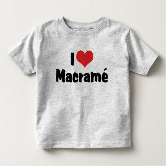 I Love Heart Macramé Toddler T-shirt