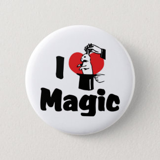 I Love Heart Magic - Magic Lover Button