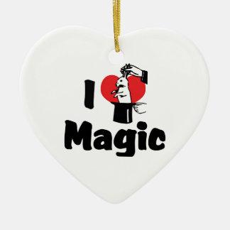 I Love Heart Magic - Magic Lover Ceramic Ornament