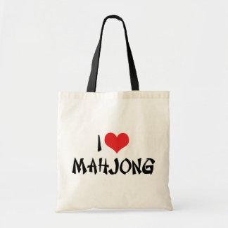 I Love Heart Mahjong - Mah Jong Lover Tote Bag
