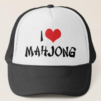 I Love Heart Mahjong - Mah Jong Lover Trucker Hat