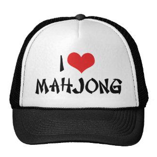 I Love Heart Mahjong - MahJong Lover Trucker Hat