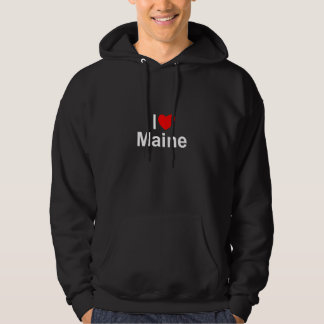 I Love (Heart) Maine Hooded Sweatshirt
