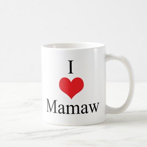 I Love (Heart) Mamaw Classic White Coffee Mug