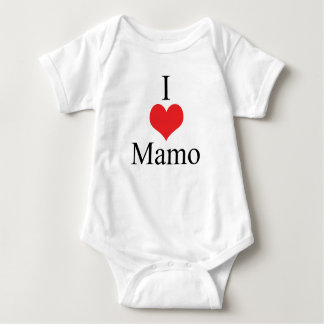 I Love (Heart) Mamo Baby Bodysuit