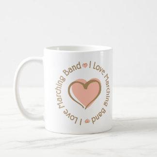 I Love Heart Marching Band Coffee Mug