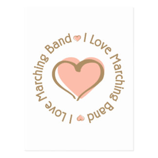 I Love Heart Marching Band Postcard