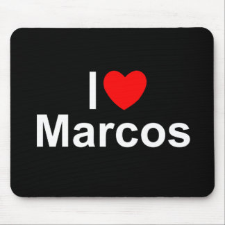 I Love (Heart) Marcos Mouse Pad