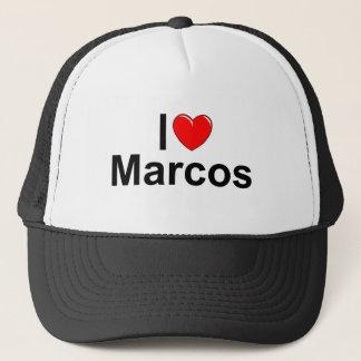 I Love (Heart) Marcos Trucker Hat