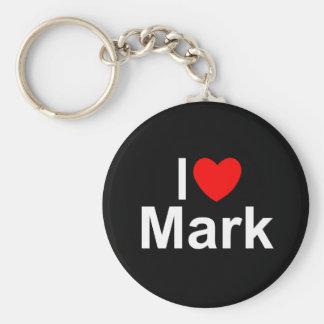 I Love (Heart) Mark Basic Round Button Keychain
