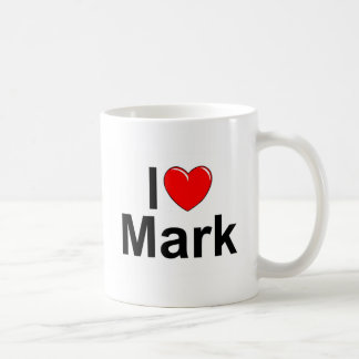 I Love (Heart) Mark Coffee Mug