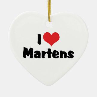 I Love Heart Martens Ceramic Ornament