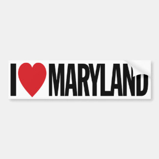 "I Love Heart Maryland 11"" 28cm Vinyl Decal Bumper Sticker"