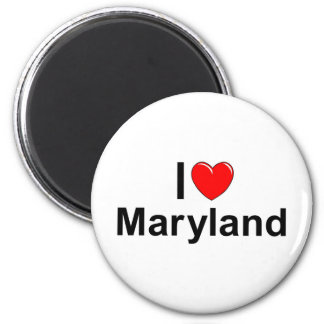 I Love (Heart) Maryland 2 Inch Round Magnet