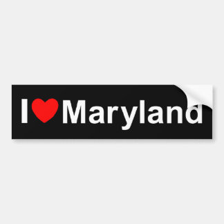 I Love (Heart) Maryland Bumper Stickers