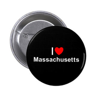 I Love Heart Massachusetts Button