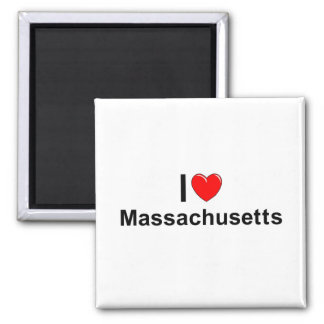 I Love (Heart) Massachusetts Magnet