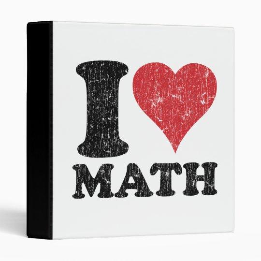 I Love (Heart) Math Customizable School Binder