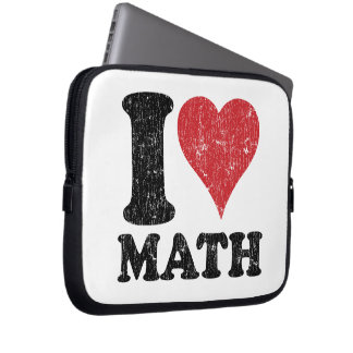I Love (Heart) Math Laptop Sleeve