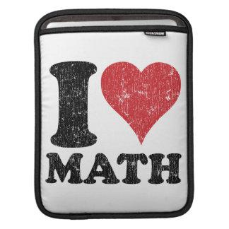 I Love (Heart) Math Rickshaw iPad Sleeve