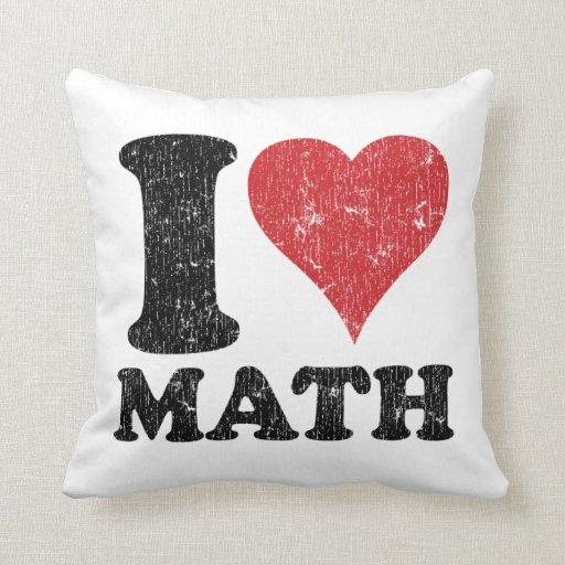 I Love (Heart) Math Throw Pillow
