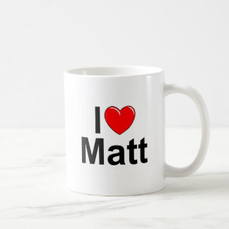 I Love (Heart) Matt Coffee Mug