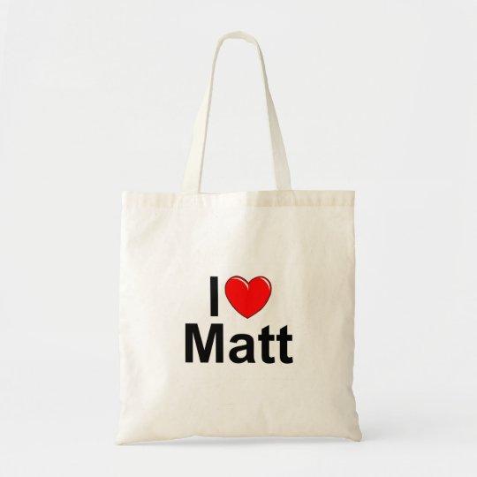 I Love (Heart) Matt Tote Bag