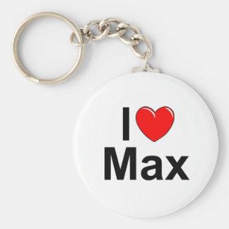 I Love (Heart) Max Basic Round Button Keychain