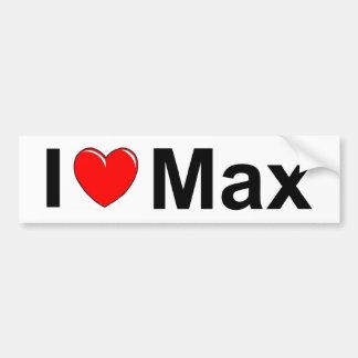 I Love (Heart) Max Bumper Sticker