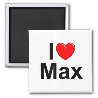 I Love (Heart) Max 2 Inch Square Magnet