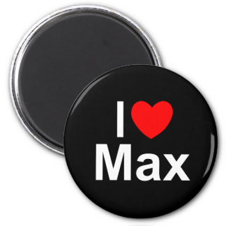 I Love (Heart) Max 2 Inch Round Magnet