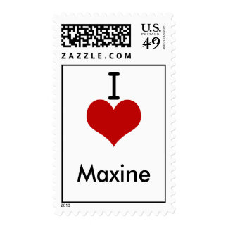 I Love (heart) Maxine Postage Stamp