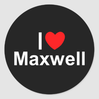 I Love Heart Maxwell Stickers