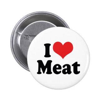 I Love Heart Meat - Beef Steak BBQ Lover Button