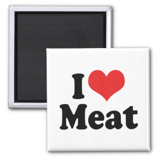 I Love Heart Meat - Beef Steak BBQ Lover Magnet