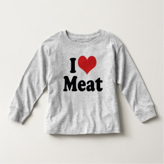 I Love Heart Meat - Beef Steak BBQ Lover Toddler T-shirt