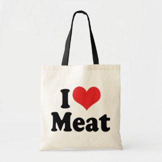 I Love Heart Meat - Beef Steak BBQ Lover Tote Bag