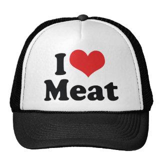 I Love Heart Meat - Beef Steak BBQ Lover Trucker Hat