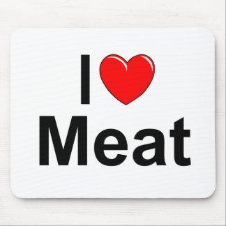 I Love (Heart) Meat Mousepad