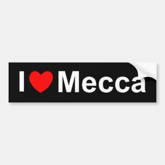 I Love (Heart) Mecca Car Bumper Sticker