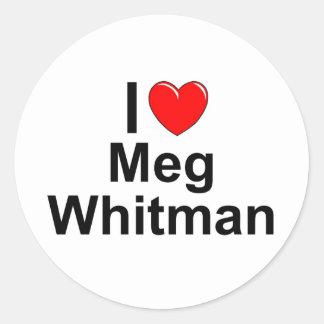 I Love (Heart) Meg Whitman Classic Round Sticker