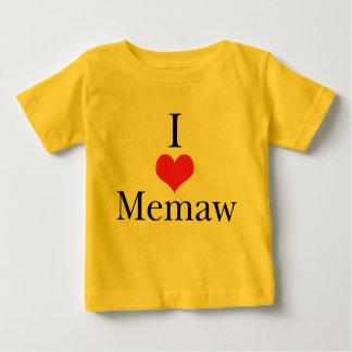 I Love (Heart) Memaw Baby T-Shirt