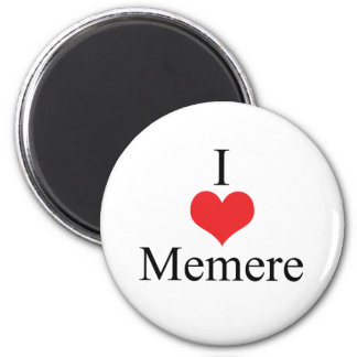 I Love (Heart) Memere 2 Inch Round Magnet
