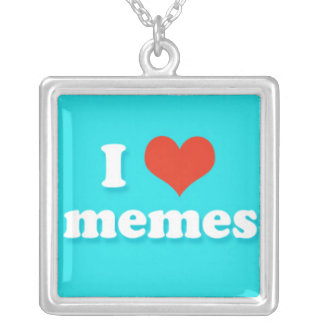 I Love Heart Memes Internet Phrase Necklaces