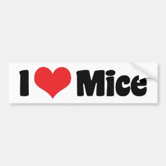 I Love Heart Mice - Mouse Lover Bumper Sticker